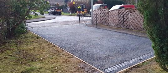 New driveway install